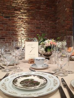 Vintage MisMatched China. Floral by Steven Bruce Design - The Roundhouse, Beacon, NY.