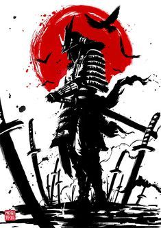 Japanese Warrior Tattoo, Samurai Warrior Tattoo, Warrior Drawing, Japanese Tattoo Art, Japanese Tattoo Designs, Samurai Drawing, Samurai Anime, Bushido Tattoo, Samurai Wallpaper