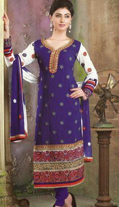 Buy Indian Beautiful Purple #GeorgetteChuridarKameez Anarkali Dresses Product code: KPW-36101 Price: INR 4819 (Unstitch Suit), Color: Purple    Shop Online now: http://www.efello.co/Salwar-Kameez_Indian-Beautiful-Purple-Georgette-Churidar-Kameez-Anarkali-Dresses,-Dress_4531