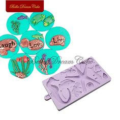 (This is an affiliate pin) Fiesta Seahorse Shell Border Shaped Silicone Mold Fondant Sugarcraft Molds Cake Decorating Tools Chocolate Gumpaste Mould Bakeware: sm-1269 Candy Making Supplies, Dream Cake, Cake Decorating Tools, Cake Mold, Gum Paste, Bakeware, Silicone Molds, Fondant, Shell