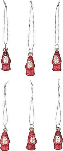 Mini Glass Christmas Ornaments - Santa