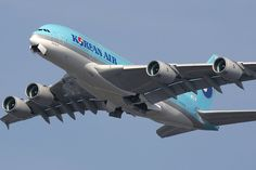 Korean Air: Isn't it beautiful? Visit Korea by Air. Korean Airlines, Airbus A380, Aircraft Photos, Bmw X6, Airplanes, Commercial, Wings, French, Business