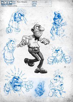 Arte película Mortadelo y Filemón contra Jimmy el Cachondo diseños sketch - Filemón