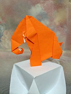 Origami Diagram:  Baby Woolly Mammoth/Elephant by LifeSimpleJoys on Etsy