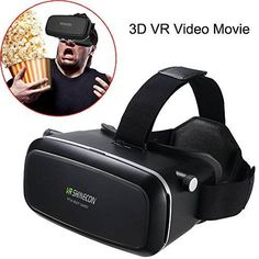 Awkli 3D VR GlassesVR HeadsetVirtual Reality Headset with Adjustable Lens for iPhone 5 5s 6 plus Android Samsung S3 Edge Note 4 and 3.5-6 Inch Smart phone for 3D Movies Game Box
