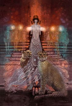 La Marchesa Luisa Casati with her pet panthers who inspired Cartier's  famous Panther design | House of Beccaria~