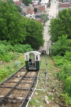 "Ride the Incline (Fenelon Place Elevator) in Dubuque, Iowa. Enjoy the beauty of the Mississippi River and this quaint ""Main Street"" town riding down (or up) this steep hill! Looking forward to going there again with my little guy!"