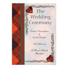 Schottisches Tartan-Hochzeitsprogramm - Cunningham 12,7 X 17,8 Cm Einladungskarte