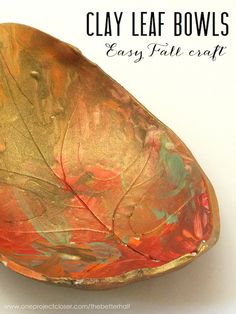 An Easy Clay Craft for Kids and Adults: Autumn Leaf Bowls!
