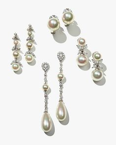 Pearl Statement Earrings by Majorica at Neiman Marcus.