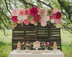 Large Paper Flower Wall large paper flower backdrop by PaperFlora