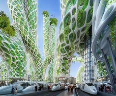 """""""Mangrove tornyok"""" – a zöld felhőkarcolók Jövőkép, Párizs"""