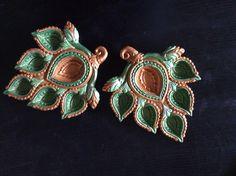 Hand painted diyas for Diwali