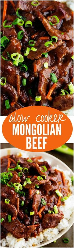 This recipe for slow cooker mongolian beef by @cremedelacrumb is definitely going on our busy weeknight recipe list!