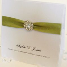 I like how simple this is but elegant    Handmade Luxury Wedding Invitation Agnes x 1 by BeckybyDesign, £3.60