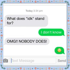 Just got to love I'm useful to my friends for something! Had any SMS abbreviation stump you? #TechGeneration #Communication