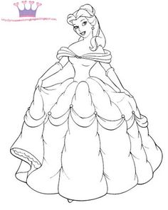 Princess Belle And Horse Coloring Pages DISNEY COLORING PAGES