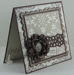 So pretty! Need to check out the link to the ribbon rose tutorial...