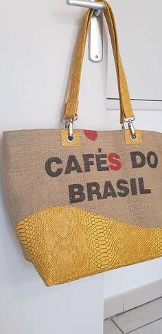 Sac Samba en toile de sac à café cousu par Lydia - Patron Sacôtin