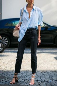 Street Wear And Casual Chic Outfits Trending Ideas For This Spring 49 Casual Chic Outfits, Work Casual, Simple Outfits, Summer Outfits, Street Looks, Street Style, Outfit Jeans, Denim Trends, Estilo Boho