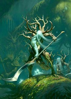 Fey Woodlands Abomination - Pathfinder PFRPG DND D&D d20 fantasy