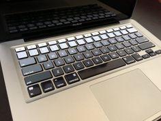 Ombre noir/gris iMac MacBook Pro et MacBook Air par StickerDoodleJ