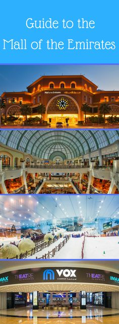 Click on the Pin to find out more about the Mall of the Emirates! he Mall of the Emirates opened in 2005 and has 255,389 square meters of gross leasable space. The mall currently has over 630 retail outlets and over 100 eateries. The Mall of the Emirates is home to Ski Dubai, Magic Planet, a community theater & arts center and a VOX movie theater. There are also two hotels directly connected to the mall, and several others located close by.