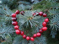 DIY cranberry ornaments