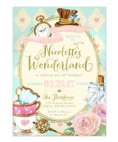 38 Best Alice In Wonderland Invitations Images Alice In Wonderland