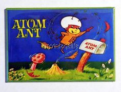 "Vintage ATOM ANT Lunchbox 2"" x 3"" Fridge MAGNET Art"