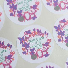 Self Care Is A Radical Act: Recycled by FabulouslyFeminist on Etsy