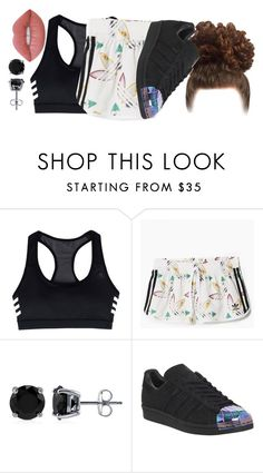 """""""not too much feeling this"""" by princessdari ❤ liked on Polyvore featuring adidas, BERRICLE and Lime Crime"""