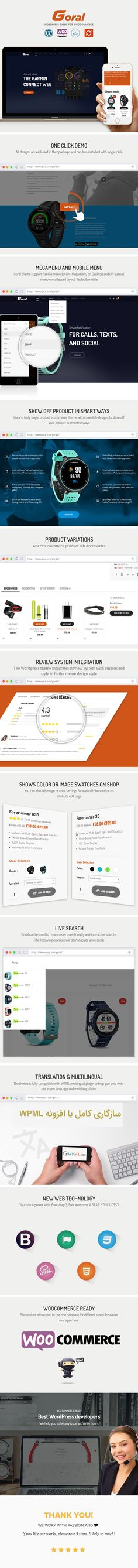Goral SmartWatch - Single product Woocommerce WordPress Theme #single product #smartwatch #SmartWatch Theme • Download ➝ https://themeforest.net/item/gramin-smartwatch-single-product-woocommerce-wordpress-theme/19162897?ref=pxcr