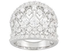 Bella Luce (R) 3.00ctw Rhodium Plated Sterling Silver Ring