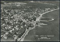 Vestfold fylke Horten kommune ÅSGÅRDSTRAND. Flyfoto Utg Widerøe, postgått 1953