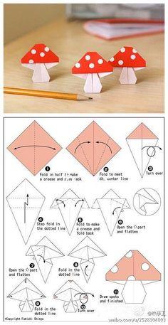 Origami - mushrooms: