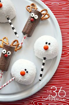 Reindeer and snowman holiday treats from The 36th Avenue