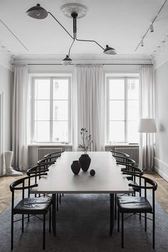INSPIRATION: modern meets minimalist in this elegant dining space | est living