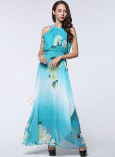 Dresses - $45.99 - Chiffon Floral Sleeveless Maxi Casual Dresses (1955104654)