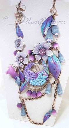 polymer clay necklace --