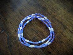 Bracelet Lavande - Bracelet de plage ado : Bracelet par charlie-creations-fr
