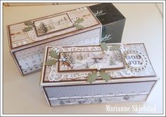 After Eight - Pion Design Christmas Gift Box, Vintage Christmas, Christmas Cards, Vintage Cards, Vintage Paper, Matchbox Crafts, Scrapbook Supplies, Diy Cards, Paper Crafting