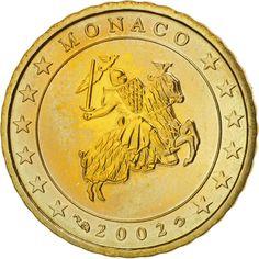 Monaco, 10 Euro Cent, 2002, KM:170