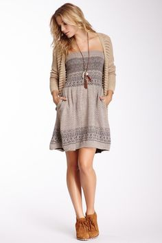 Sweater Tube Dress - cute!