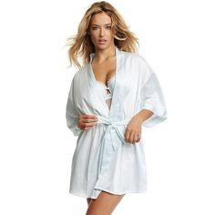 Women's Jezebel Satin Kimono Robe, Size: L/XL, White Oth