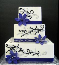 Blue And Red Wedding Cakes