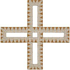 Interlaced Cross Embroidery Design