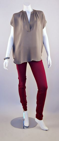 Vince Blouse and J Brand Super Skinny Jeans