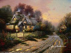 Teacup Cottage by Thomas Kinkade