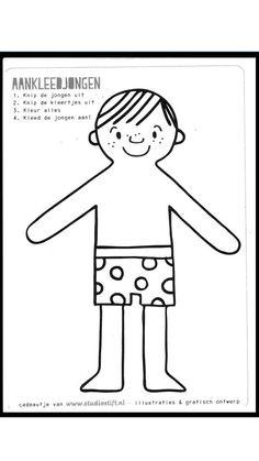 Afdrukken op donker papier om zwarte piet voor te stellen. Aankleden deel 1 Saints, Artsy, Teen, Dolls, Fictional Characters, Printables, Parts Of The Body, Human Body, Activities